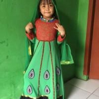 baju gamis india anak perempuan, baju tari india, baju muslim anak