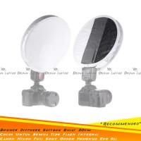 Universal Diffuser Round Flash Mini SoftBoX Bulat 30cm Godox Yongnuo
