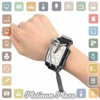 Jakemy JM-X4 Permanent Magnetic Wristband Bracelet Adsor`60XOU8- Black