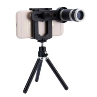 Lensa Pembesar Kamera Hp/ Lensa TeleZoom 8x Tripod
