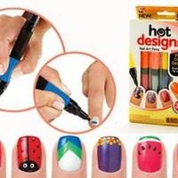 Jual 6 Color Starter Kit Hot Design Nail Art Basic Kit - Red Blue Green Bla Murah