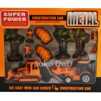 Mainan Anak Metal Die Cast Construction Mini Car Super Truck Bulldoz