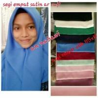 Nyaman jilbab segi empat satin silk velvet polos hijab segiempat
