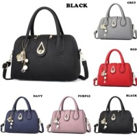 SALE TAS FASHION WANITA IMPORT- HAND BAG - TC64G BLACK RED PURPLE GREY