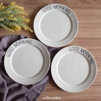 Jual Piring Makan Keramik Monochrome
