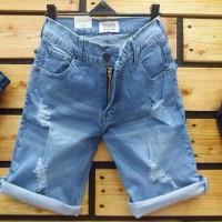 Harga sky blue light rip ripped 4 short pants celana pendek jeans jins | Pembandingharga.com