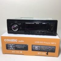 TApe Mp3 USB/SD card player Coustic audio single din murah