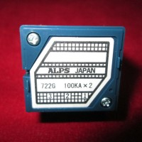ALPS RK27 100KAx2 100K 100KA Potensiometer Blue Velvet stereo Japan