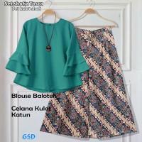 set shofia tosca/set kulot shofi/stelan baju celana kulot batik wanita