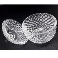Toples Kaca Permen Kue cemilan Glass Candy Crystal Jars Cookies Mini