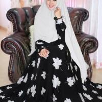 maxi gamis hijab syari mapel wolfis hiput LL