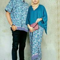 Jual C setelan couple kebaya batwing tosca baloteli batik prada Murah