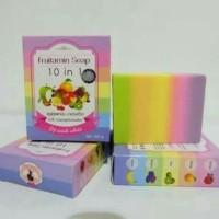 Jual fruitamin soap 10 in 1 by wink white 10in1 fruit vitamin pelangi sabun Murah