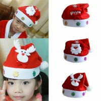 Jual topi natal anak santa, snowman, oldman dan elk Murah