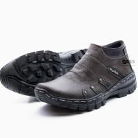 Sepatu Boot Pria Boots Touring Casual Kulit Asli Resleting BKS07