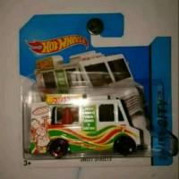 Hot Wheels Ice Cream Truck Putih Mini