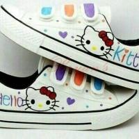Jual sepatu kets hello kitty putih KA11 murah cantik simpel santai Murah