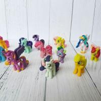 Jual My Little Pony 1 set isi 12 pcs / Hiasan Kue My Little Pony isi 12 pcs Murah