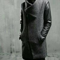 JAKET PRIA GOBLIN - Coat Cowok Abu Hitam Korean Fashion Winter Keren