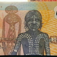 Dollar Australia 1988 Aborgin First Polymer Langka