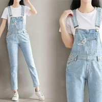 Jual BAju Overall Celana Kodok Washed Jeans Murah