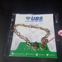 gelang tangan mas kuning rantai perhiasan emas 375 UBS gold
