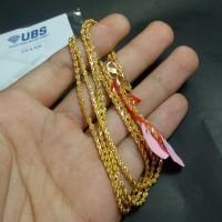 kalung emas kuning rantai model tambang perhiasan mas 420 UBS gold ori