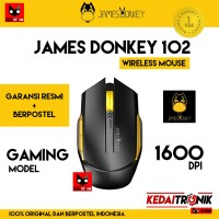 Mouse Wireless JAMES DONKEY ORI 102 USB Nano Gaming LED 6 Keys POSTEL