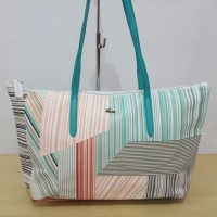 Tas / Tote Bag Lacoste Horizontal New Motif Premium Quality