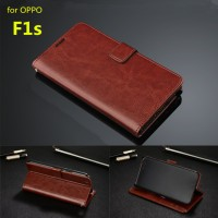 Leather Kulit FLIP COVER WALLET Casing Oppo F3 A77/ F1S A59 Case HP