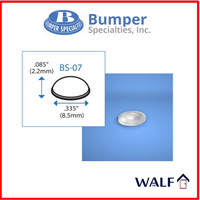 Bumper pads BS07|anti slip / pengganjal kaca hemisphere stgh lingkaran
