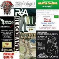 Jual CELANA PANJANG / PDL ARMY TACTICAL BLACKHAWK OUTDOOR Murah