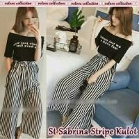 model baju mini dress terkini dan murah stln sabrina stripe kulot