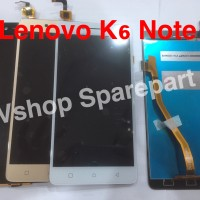 Lcd Touchscreen Lenovo K6 Note Black White Gold
