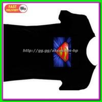 Jual Flashing LED T-Shirt Superman Model - Size XL - Black Blue Murah