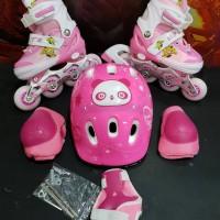 harga Fullset Sepatu Roda Anak (body Protector+helm ) Inline Skate Tokopedia.com