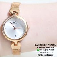 jam tangan gelang calvin klein fashion wanita rose gold
