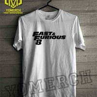 Jual Baju Kaos Tshirt Distro FAST AND FURIOUS 8 Simple Keren Yomerch Murah