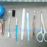 Jual Manicure pedicure tools set 8 pcs   pot mini gunting kuku alis pinset Murah