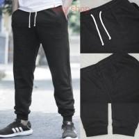 Celana HnM Jogger Joggerpants Black Basic Sweatpants H&M Original ori