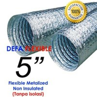 "Flexible Ducting Metalize 5"" Non Insulasi"