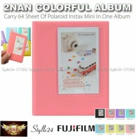 ALBUM 2NAN COLORFUL 64 FOTO FUJIFLM INSTAX MINI POLAROID 8/9/90/SP ETC