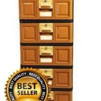 lemari plastik laciplastik serbaguna susun 5 stockcase napolly + kunci