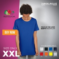 Kaos Polos Fruit Of The Loom FOOTL IMPORT Murah Originall SIZE XXL
