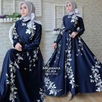 Jual Maxmara Alika Baju Muslim Wanita Kekinian Gamis Pesta Terbaru Murah