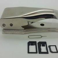 Jual DUAL sim card cutter pemotong simcard 2 in 1 micro nano Murah