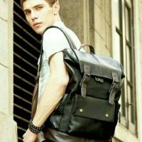 Jual KO401 Tas ransel punggung backpack kuliah kerja kulit pria import Murah