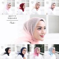 Jilbab Organza Crystal Dot/Kerudung Rubiah/Hijab Rubiah Dot