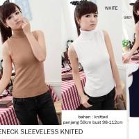 Jual Turtleneck Sleeveless Knitted / Tank Top / Tanpa lengan Murah