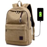 Jual RANSEL LAPTOP 16 INCHI CANVAS USB BAG + EARPHONE TAS PUNGGUNG ASUS Murah